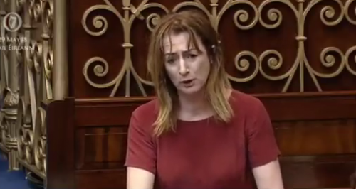 Watch Clare Dalys passionate Dail speech
