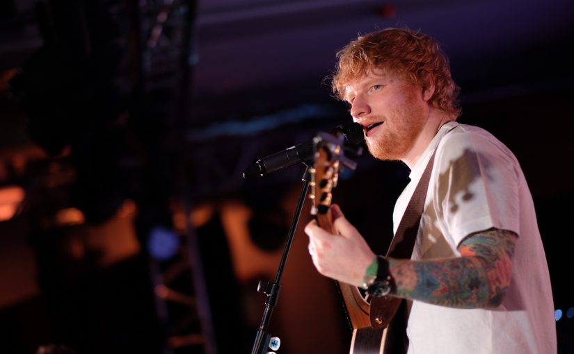 Ed Sheeran lights Camdens London Irish Centre