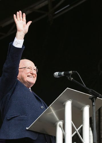 Higgins fighting fit presidential race