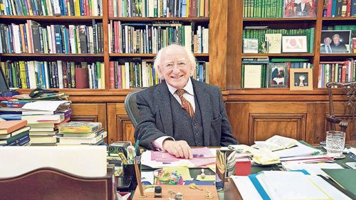 Michael D. Higgins in study