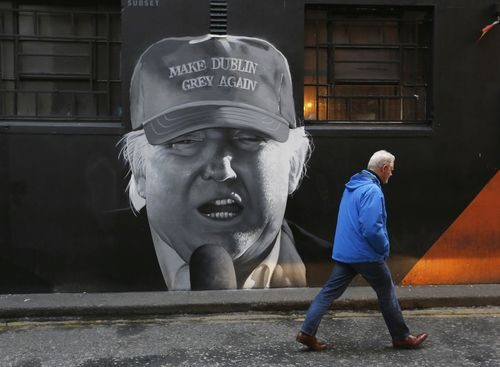 trump dublin graffiti