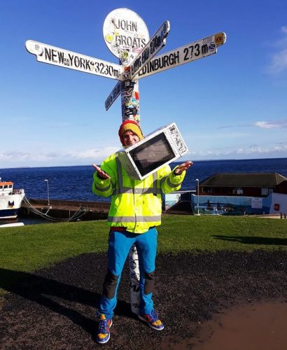 One man and his microwave Irishmans fundraising hike around England