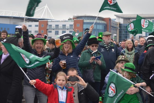 Win hospitality at London Irish's St Patrick's Party
