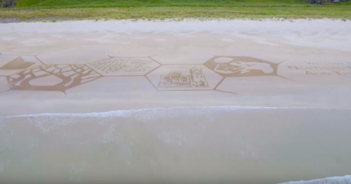 Stunning sand art celebrates 148th Open coming to Northern Ireland