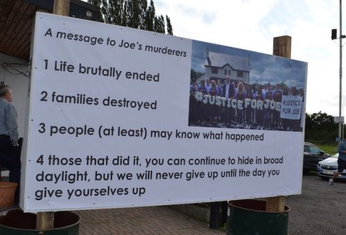 Joe Deacys family vow to never give up in their search for justice
