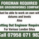 Setting Out Engineer Required