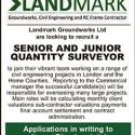 LANDMARK GROUNDWORKS Ltd are looking to recruit a SENIOR AND JUNIOR QUANTITY  SURVEYOR