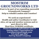 Mostrim  Groundworks Ltd,  Want to be part of an expanding successful Groundwork Company?  Help to rebuild London and Counties?