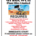 Gradewell Plant Hire Limited recruitment