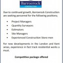Recruitment: Barroerock Construction