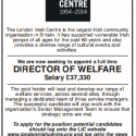 Director of Welfare - London Irish Centre