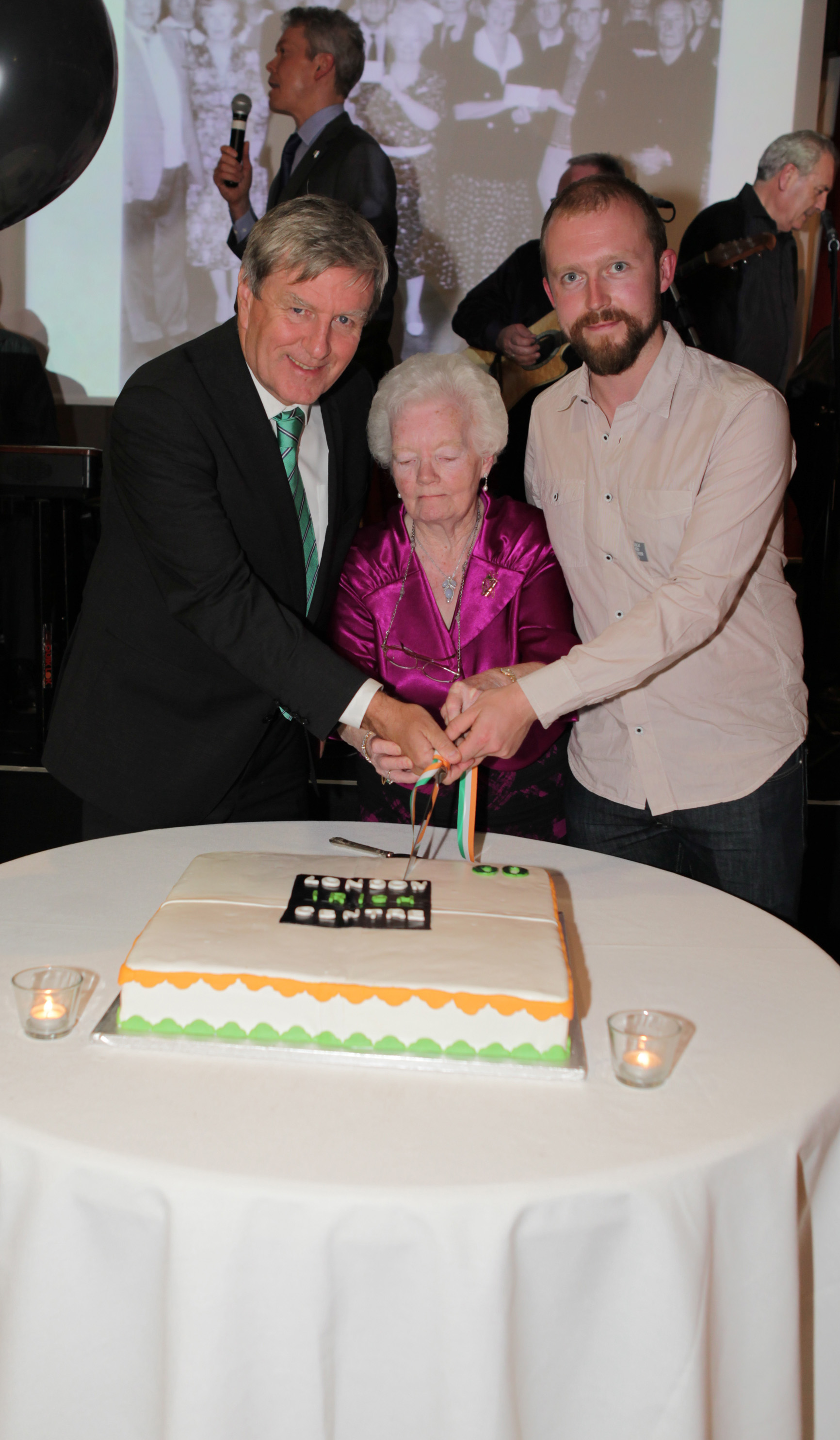 Ambassador Dan Mulhall, Mary Allen and James McDonnell
