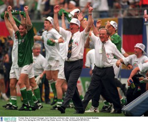 Celebrations after victory over Italy in USA '94