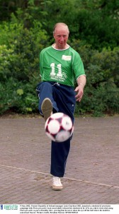 Having a kickabout in 2002