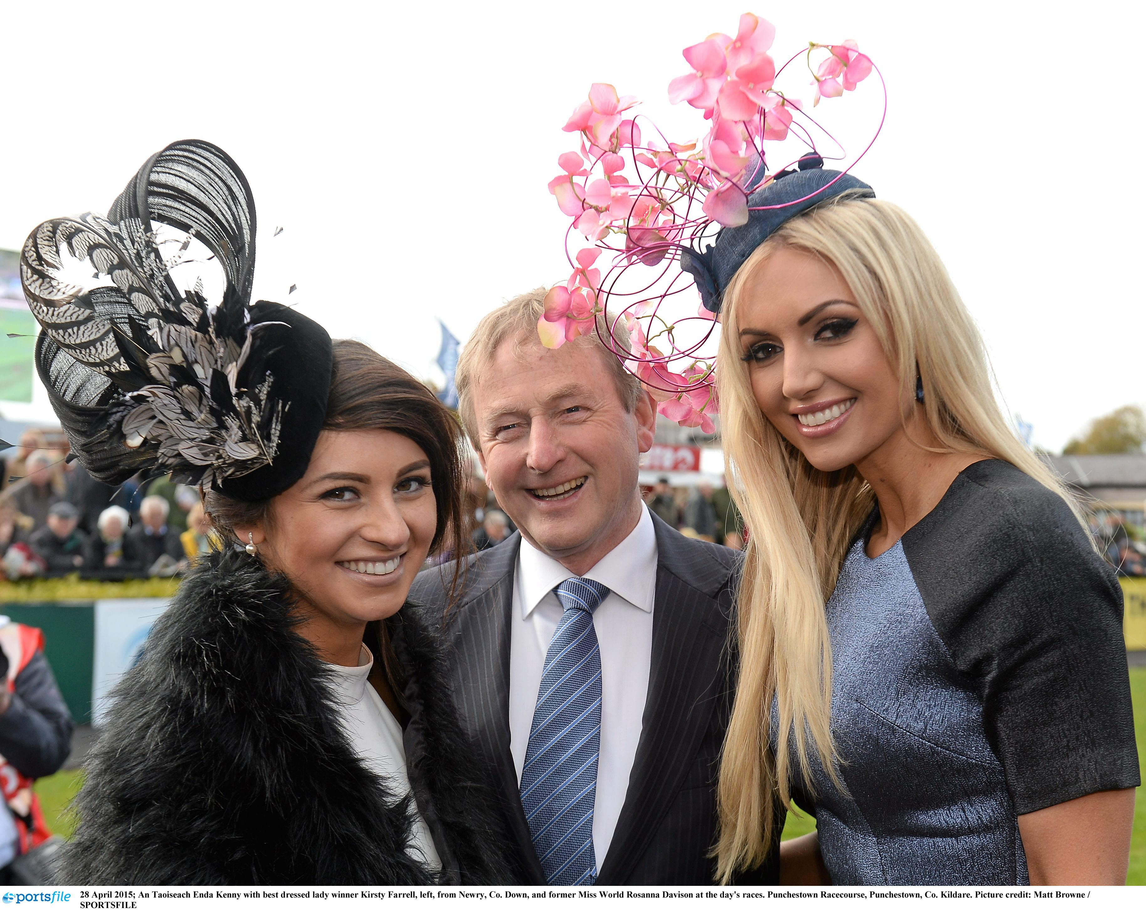 Best dressed lady with the Taoiseach Enda Kenny and Rosanna Davison